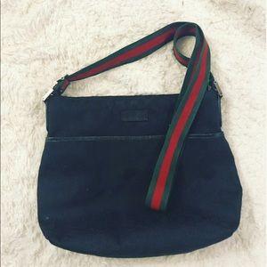 Vintage Gucci Supreme Monogram Messenger Bag L/XL